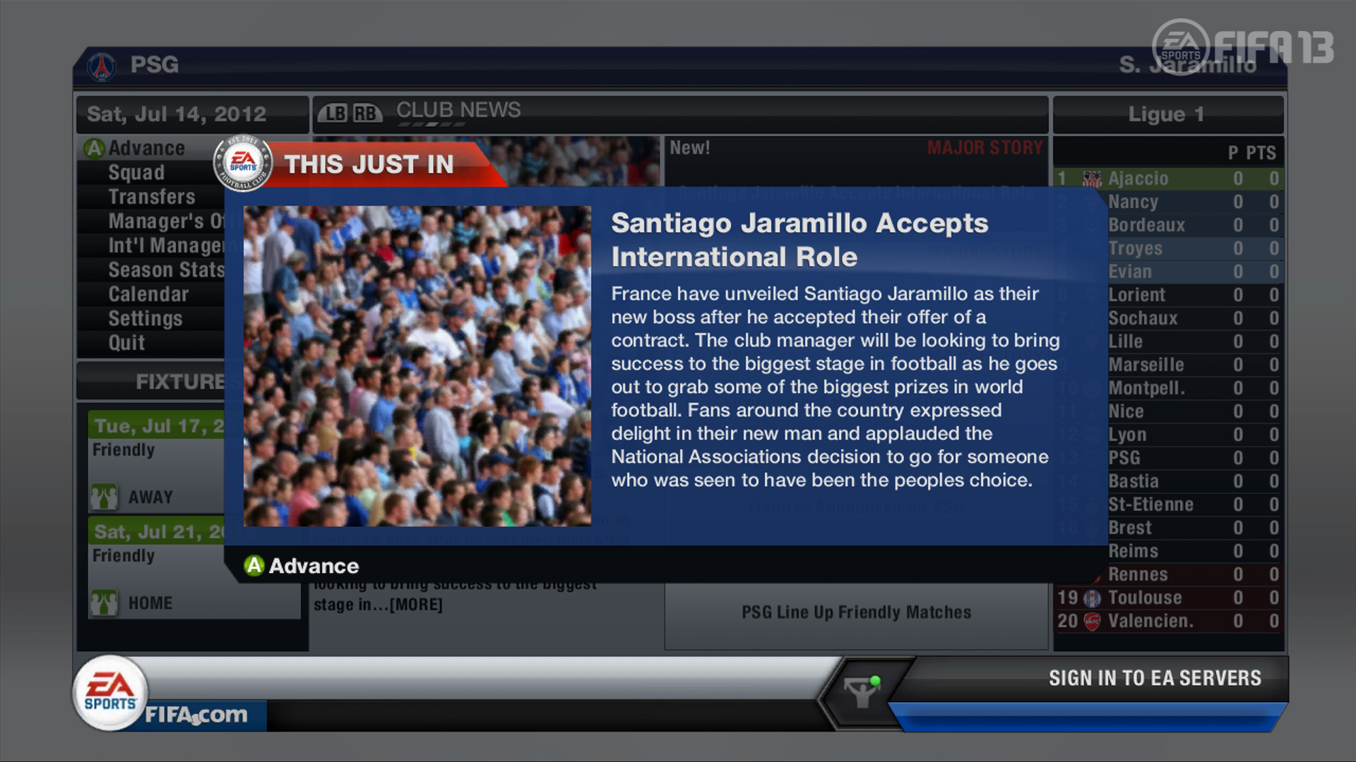 FIFA 13 Career Mode | International Offer News Flash