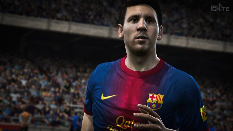 Messi Close Up on Next Gen