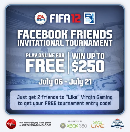 Just get 2 friends to &quot;Like&quot; Virgin Gaming to get your FREE tournament entry code!