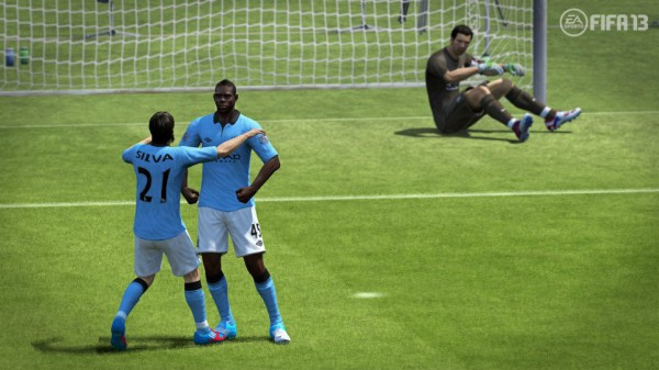 It's in the game! The Balotelli 'Hulk' celebration in FIFA 13.