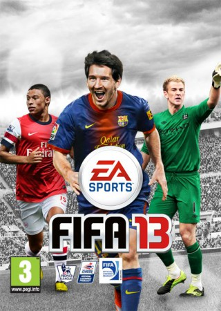Alex Oxlade-Chamberlain and Joe Hart will join Lionel Messi on the cover of the UK version of FIFA 13