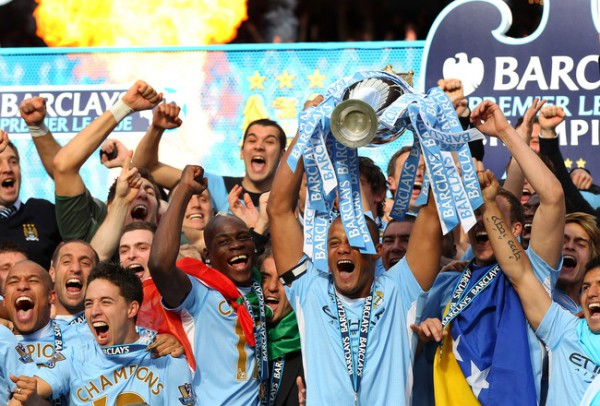 Manchester City are crowned English Premier League Champions 2011/12