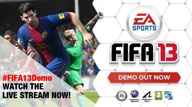 Watch the FIFA 13 Demo live stream