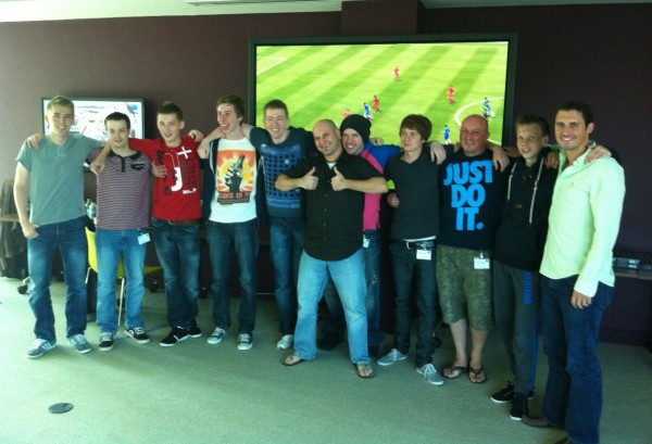 EA SPORTS flew in the world's top 10 FIFA YouTube directors in to their offices at their Guildford studios in the UK. The guys had 3 days in the offices to play FIFA 13 and create great content to help promote the launch of the Demo and the game.