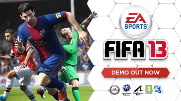 The FIFA 13 demo is available through Origin™, Xbox LIVE® and PlayStation Network®