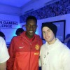 Kai 'deto' Wollin meets the Manchester United squad as he wins the Epson Gaming Challenge
