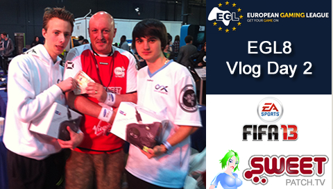 Check out our Vlog from day 2 at EGL8 where we ran the FIFA 13 2v2 tournament for our partners at European Gaming League (EGL) taking place at Play Expo at Event City, Manchester.