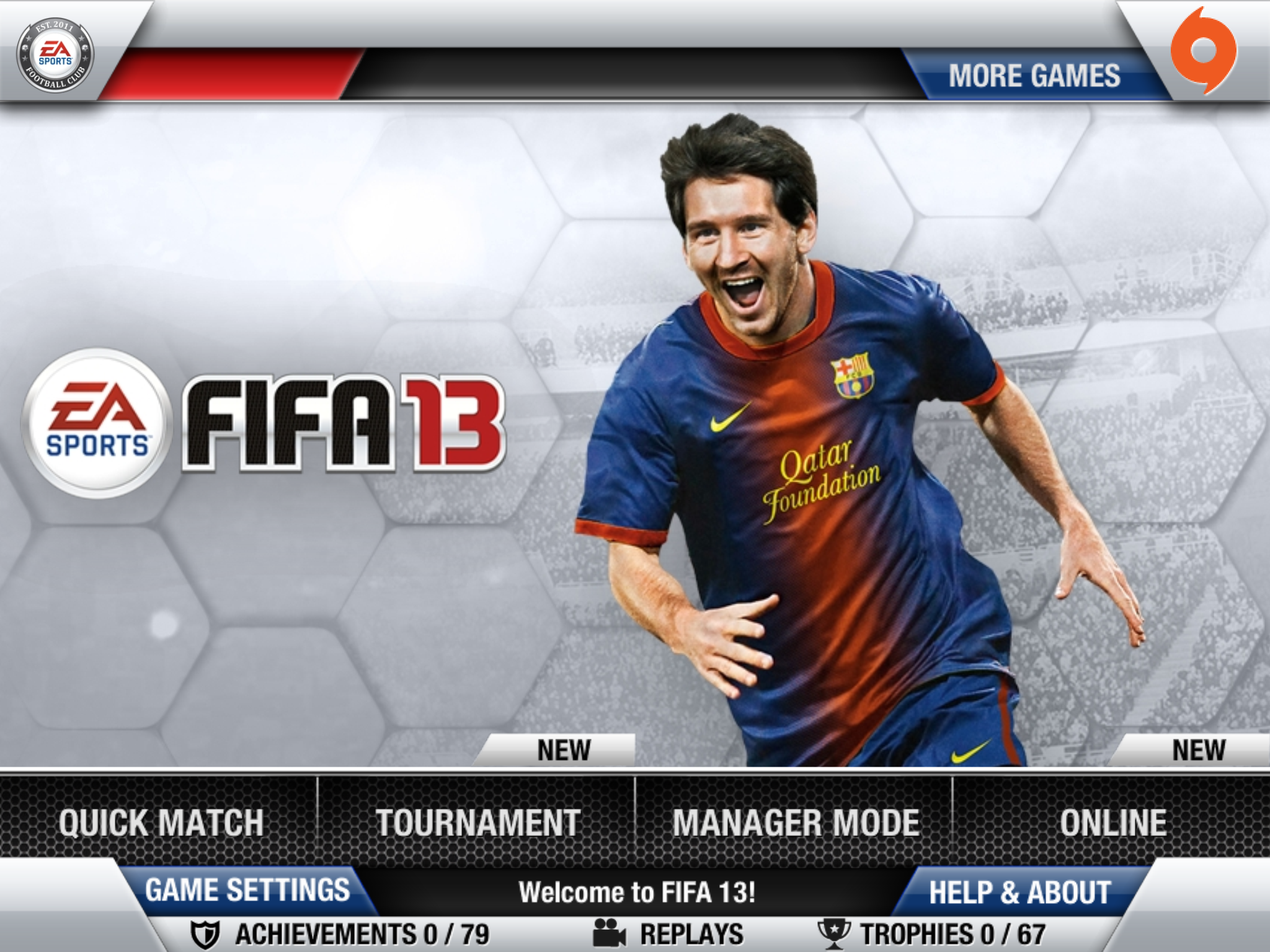 EA SPORTS is proud to announce FIFA 13 for the iPhone, iPad and iPod touch that connects fans to the real world football and enables them to play the most popular sports franchise against friends and other fans from all over the world.
