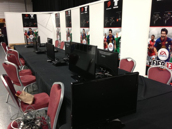 The jointly branded FIFA 13 Arena by Mad Catz and Sweetpatch TV