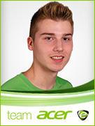 Team Acer player Sascha Schumacher (Acer Poldi)