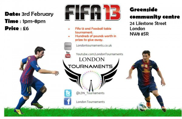 Their first tournament is on the 3rd February 2013 located in the heart of London at the Greenside Community Centre