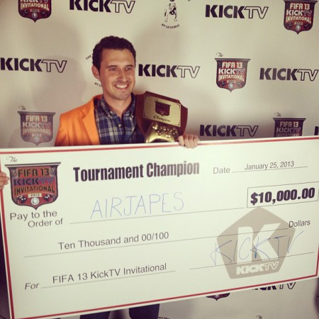 Ladies and gentlemen your KICKTV FIFA 13 Invitational Champion @airjapesfifa