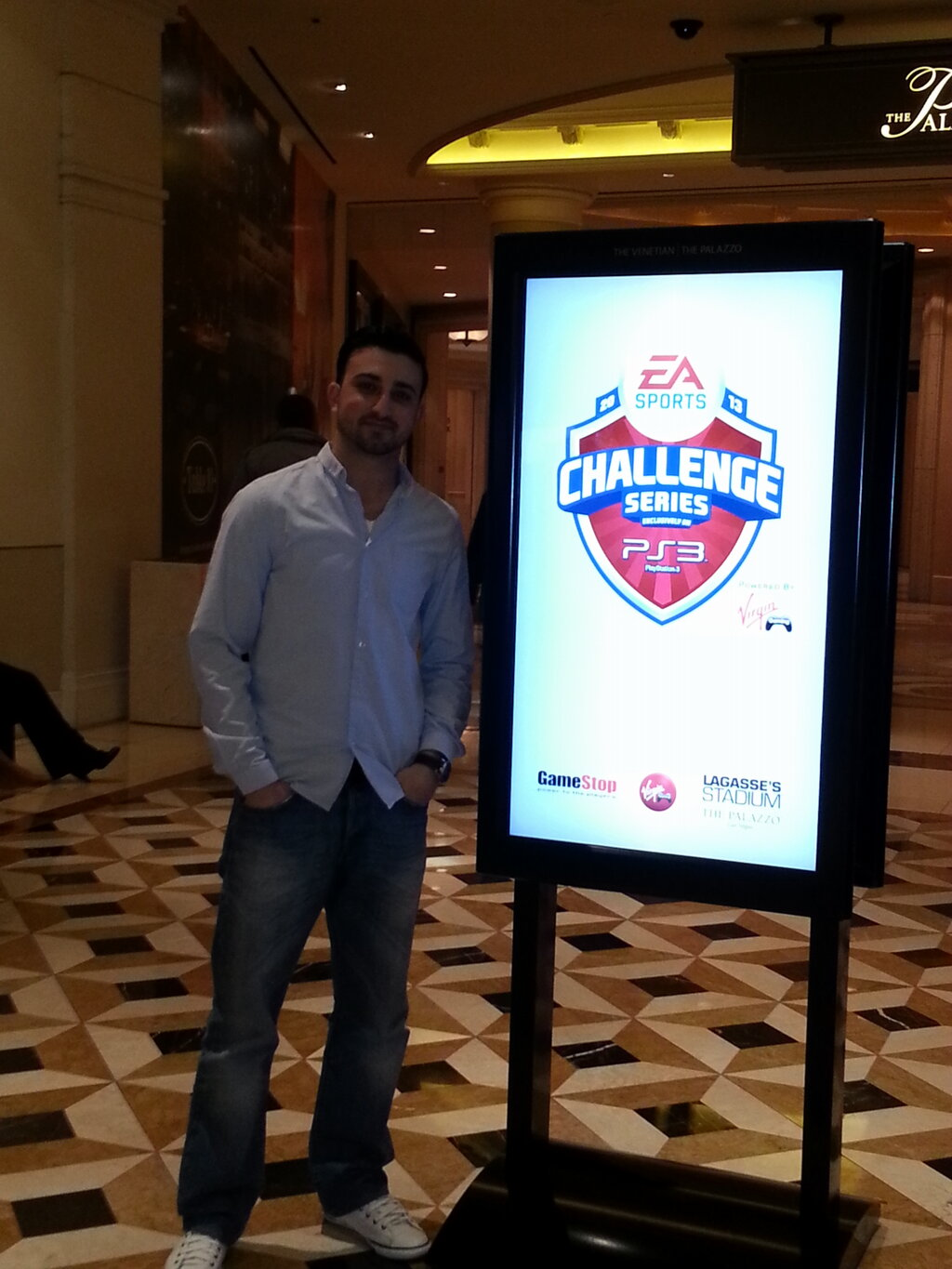Giuseppe Guastella arrives at the Challenge Series