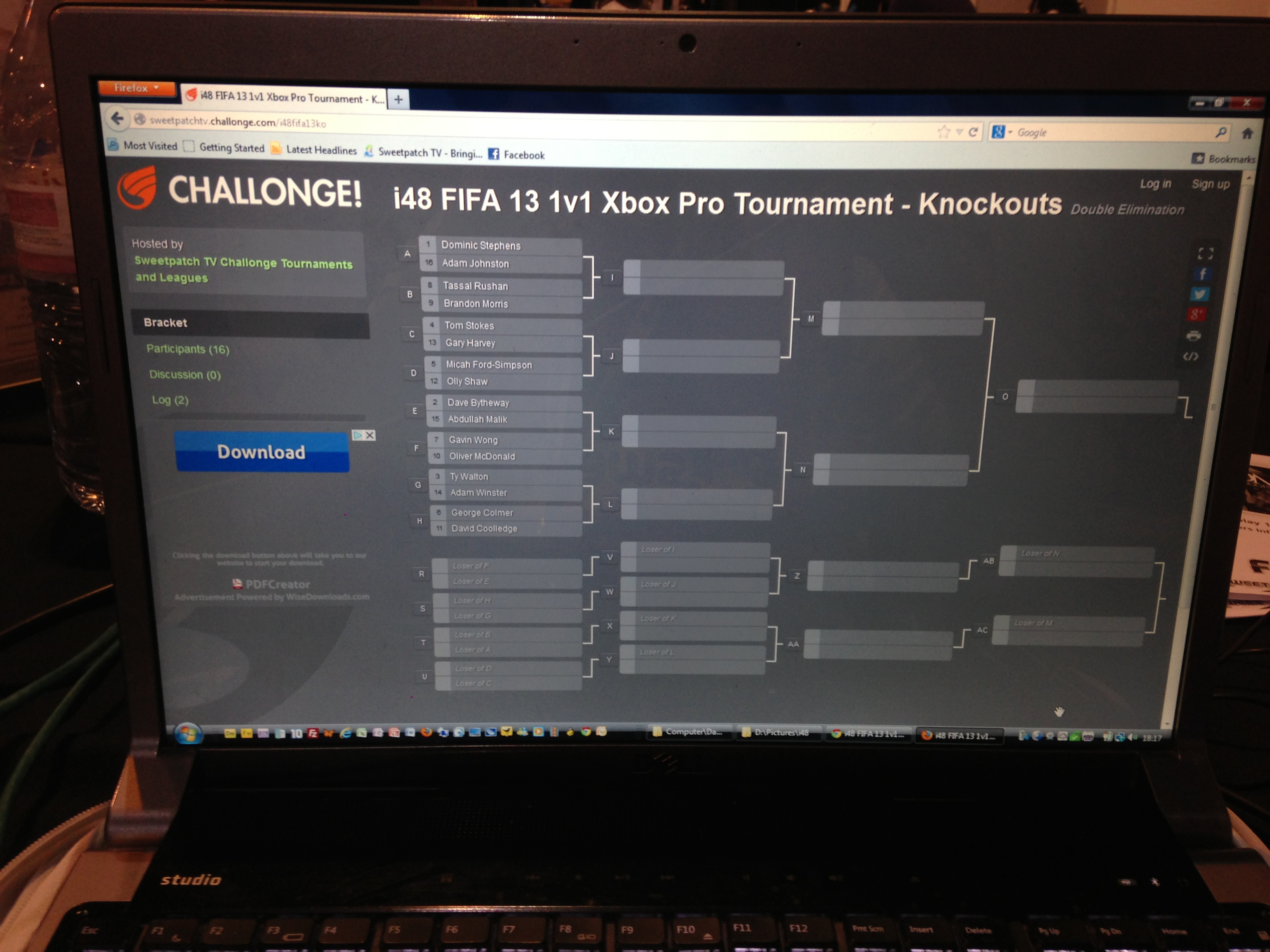 Bracket for Multiplay 1v1 FIFA 13 Pro Cup sponsored by Mad Catz