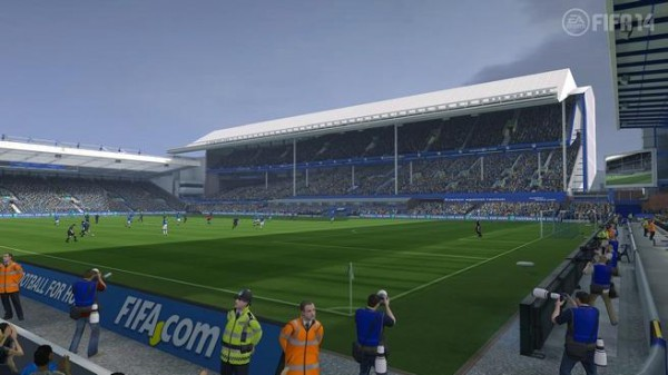 Goodison Park will make its first appearance in FIFA 14.