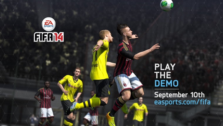The FIFA 14 demo will be released worldwide on September 10 and 11 on Xbox 360, PlayStation®3 and PC.