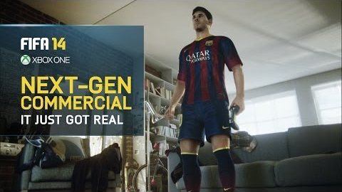 Experience Next-Gen Lionel Messi in the FIFA 14 TV commercial