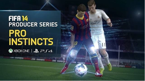 FIFA 14 - Xbox One, PS4 gameplay showing the Pro Instincts feature