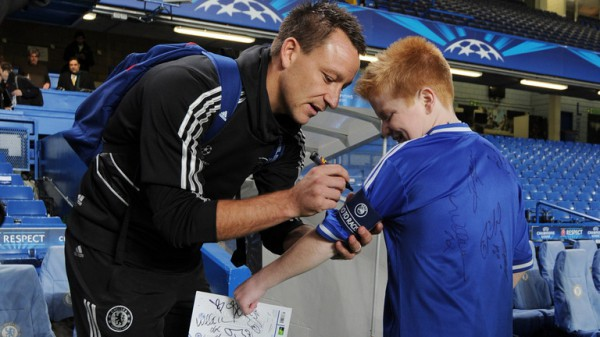 Football-mad Oran Tully met his idol John Terry and the rest of the Chelsea squad during a festive edition of My Special Day