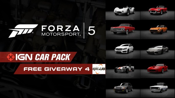 Win yourself 1 of 5 Forza Motorsport 5 IGN Car Packs