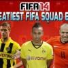 SWEATIEST TEAM EVER ft AUBAMEYANG ROBBEN REUS GOTZE - FIFA 14 SQUAD BUILDER