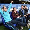 Eden Hazard surprised three Chelsea fans when he turned up for a game of FIFA 15 at Stamford Bridge